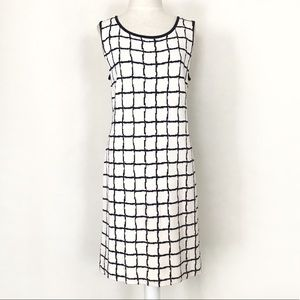 St. John Collection Ivory & Black Knit Dress